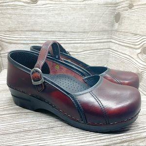 Dansko Marcelle leather Mary Jane clog